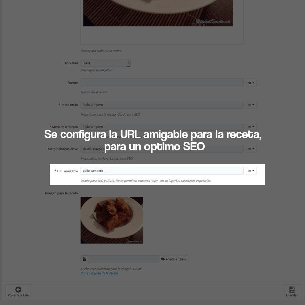 module - Blog, Foro y Noticias - Gestor de recetas con los productos de la tienda - 27