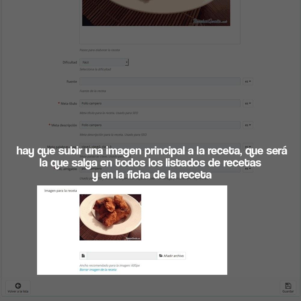 module - Blog, Foro y Noticias - Gestor de recetas con los productos de la tienda - 28