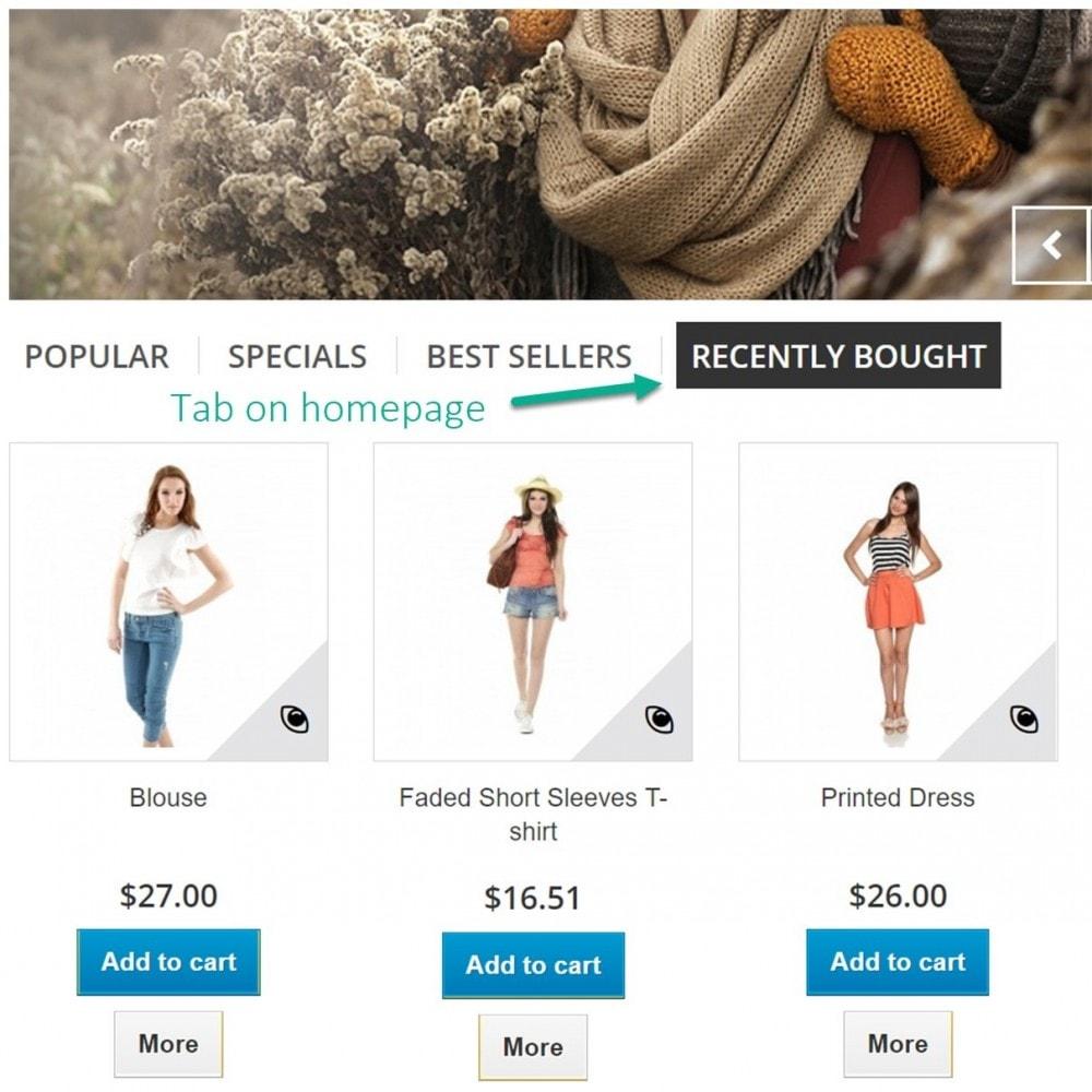 module - Gestión de Pedidos - Pedidos recientes - Productos comprados recientemente - 7