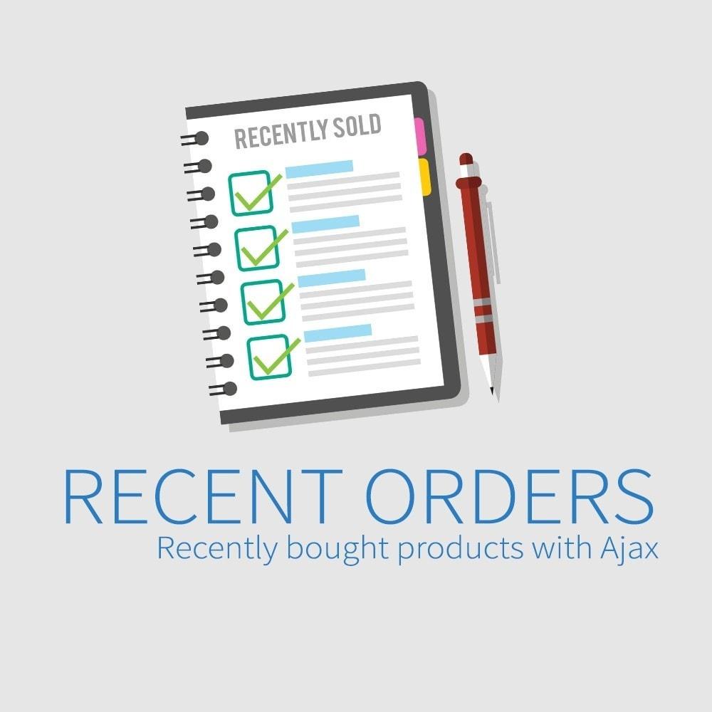 module - Gerenciamento de pedidos - Pedidos recentes - Produtos recentemente comprados - 1
