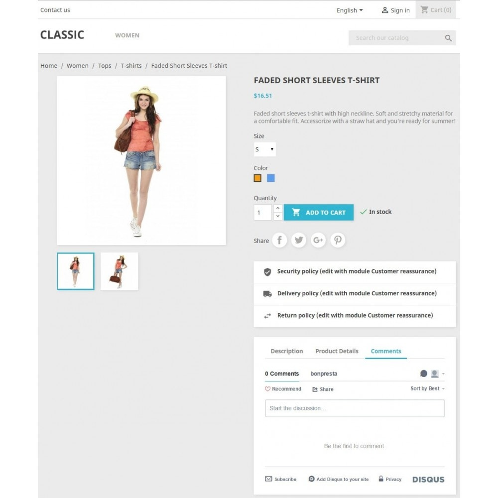 module - Comentarios de clientes - Product Disqus Comments & Reviews - 2