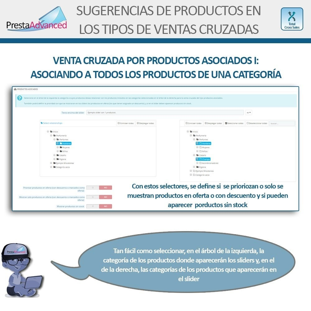 module - Ventas cruzadas y Packs de productos - Total Cross Sales - configuración de ventas cruzadas - 11