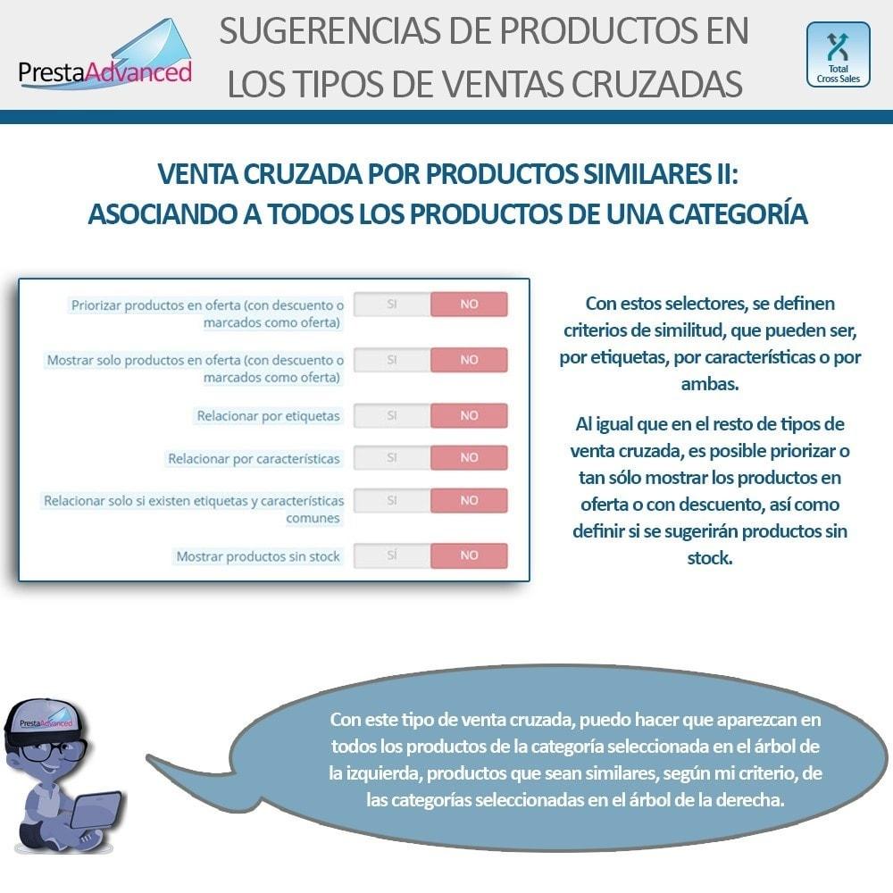 module - Ventas cruzadas y Packs de productos - Total Cross Sales - configuración de ventas cruzadas - 16