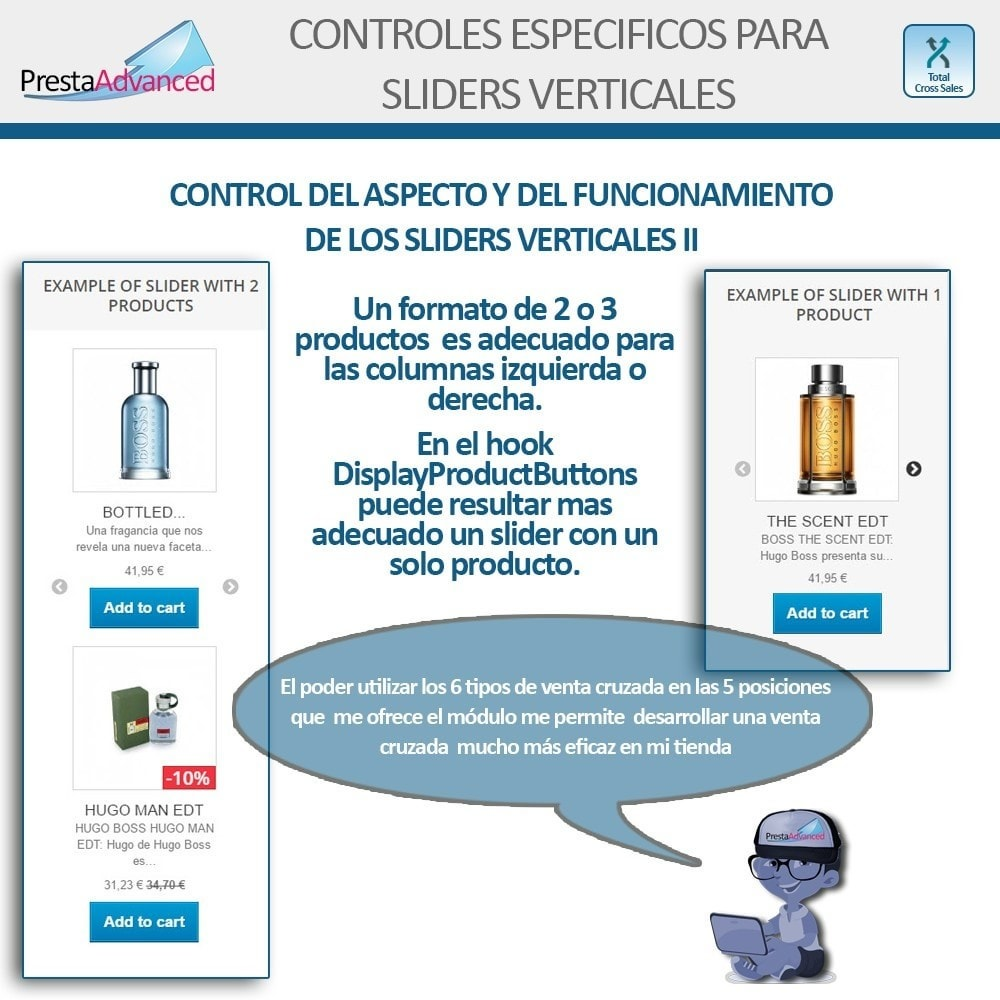 module - Vendas cruzadas & Pacotes de produtos - Total Cross Sales - Cross-selling Set up and control - 9