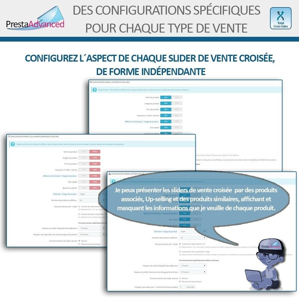 module - Ventes croisées & Packs de produits - Total Cross Sales - Configuration des ventes croisées - 4