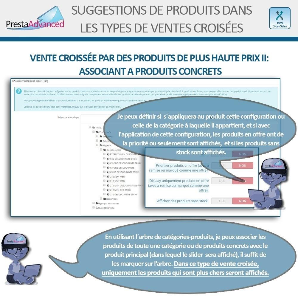 module - Ventes croisées & Packs de produits - Total Cross Sales - Configuration des ventes croisées - 13