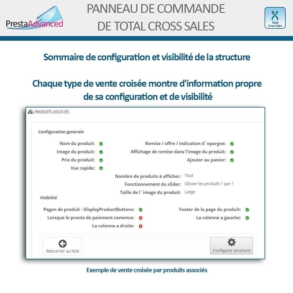 module - Ventes croisées & Packs de produits - Total Cross Sales - Configuration des ventes croisées - 25