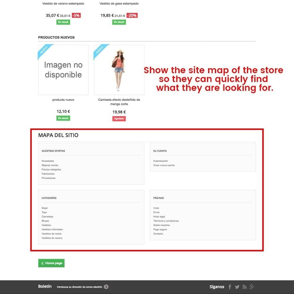 module - URL & Redirects - Customization of the 404 error page - 4
