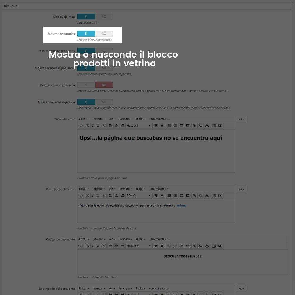 module - URL & Redirect - Personalizzare la pagina di errore 404 - 5