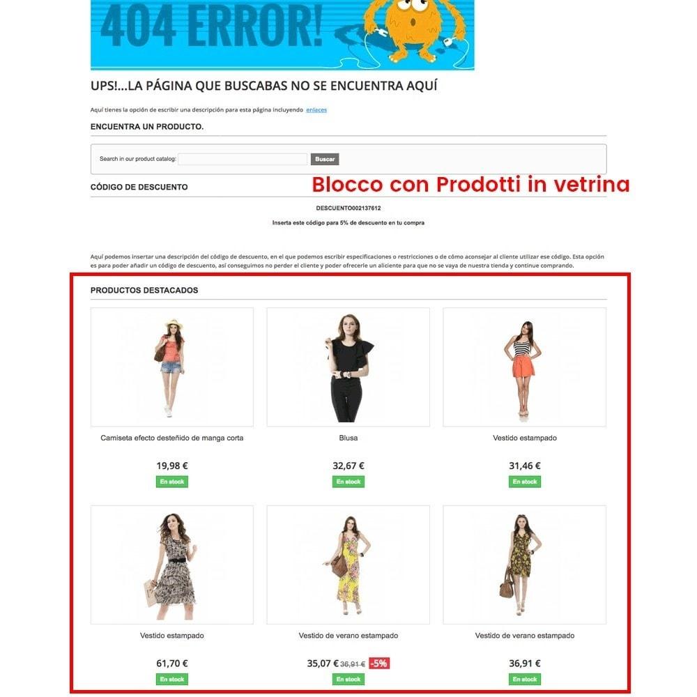 module - URL & Redirect - Personalizzare la pagina di errore 404 - 6
