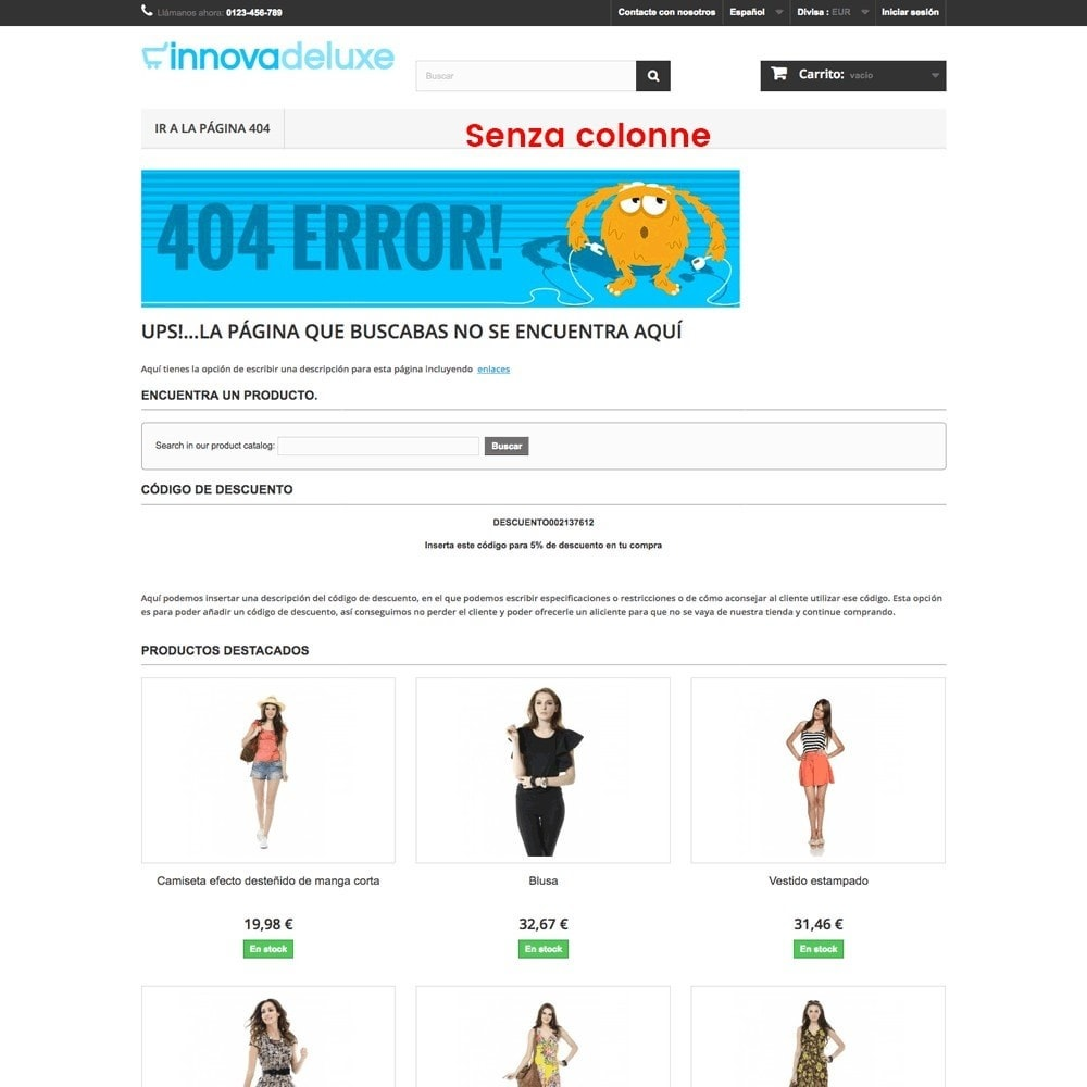 module - URL & Redirect - Personalizzare la pagina di errore 404 - 15