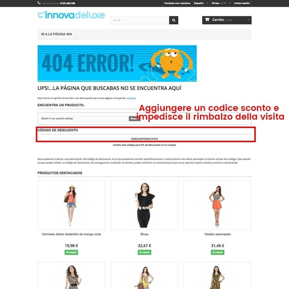 module - URL & Redirect - Personalizzare la pagina di errore 404 - 21