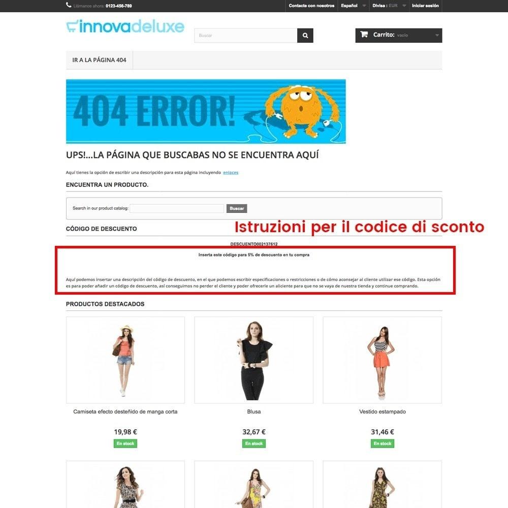 module - URL & Redirect - Personalizzare la pagina di errore 404 - 23