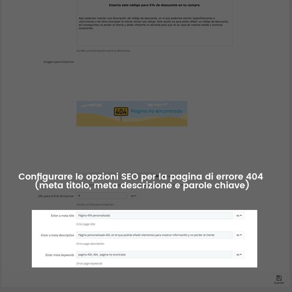 module - URL & Redirect - Personalizzare la pagina di errore 404 - 26