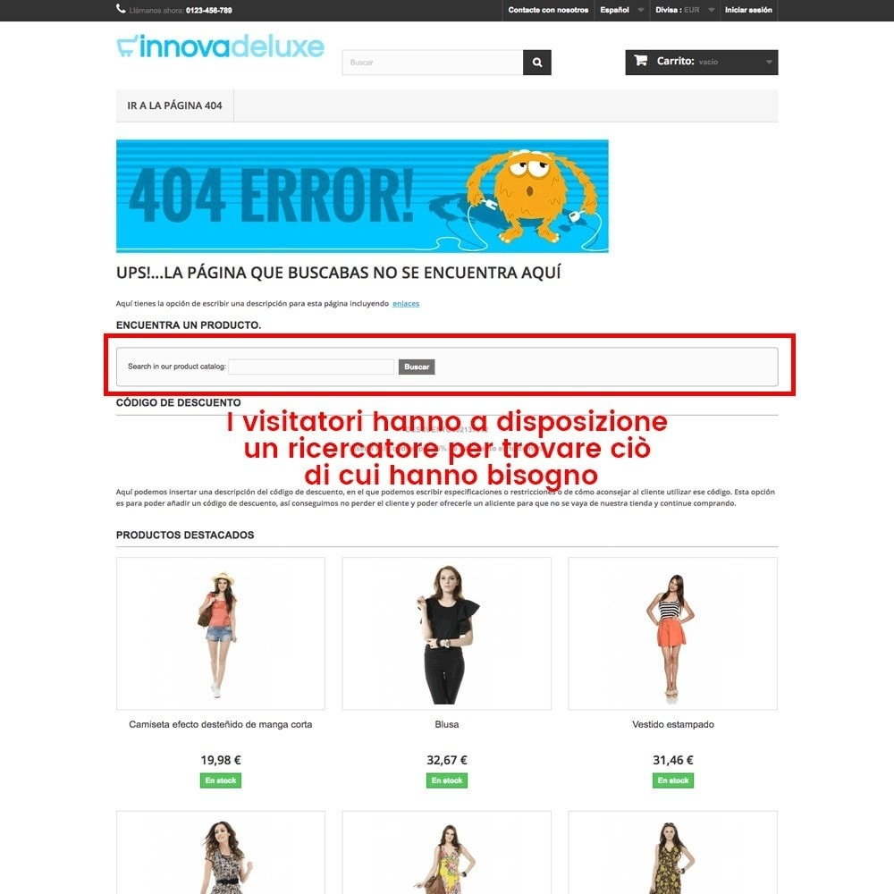 module - URL & Redirect - Personalizzare la pagina di errore 404 - 27
