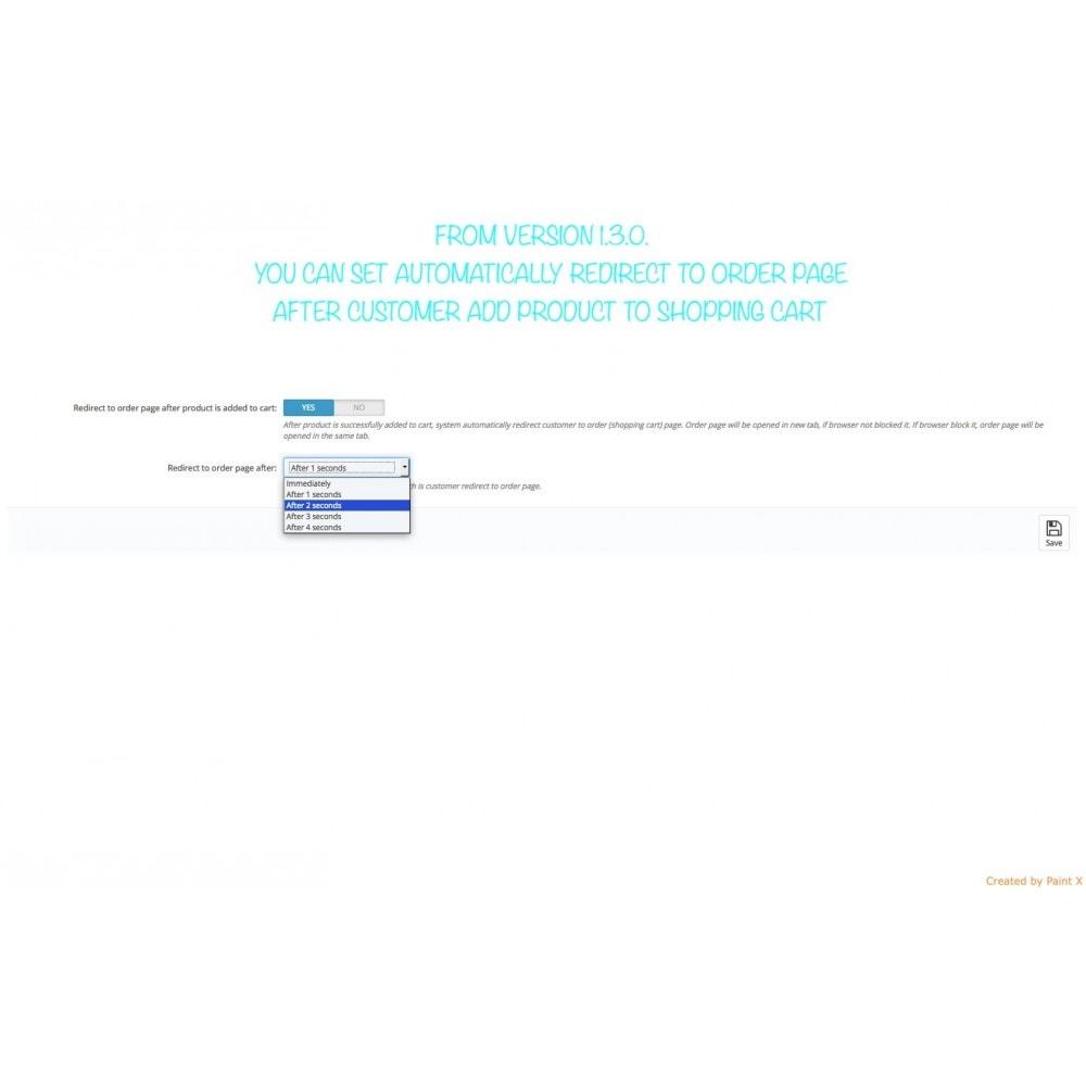 module - Iscrizione e Processo di ordinazione - Effetto volo del prodotto nel carrello, popup ed altro - 12