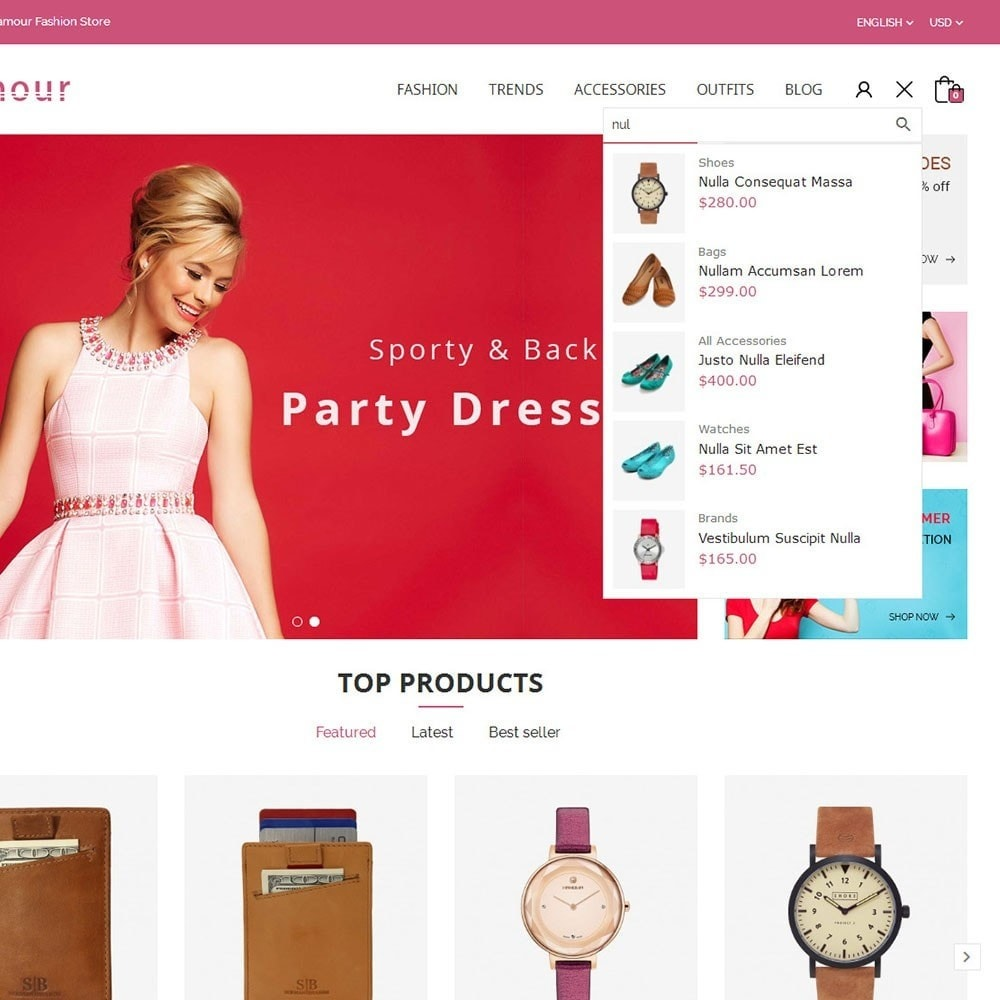 theme - Fashion & Shoes - Glamour Fashion Store - 6