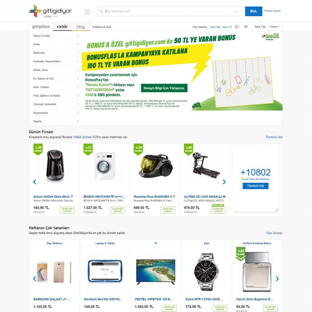 module - Marketplaces - Gittigidiyor Product feed - 2