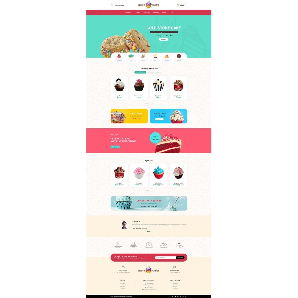 theme - Alimentation & Restauration - Cake Shop - 2