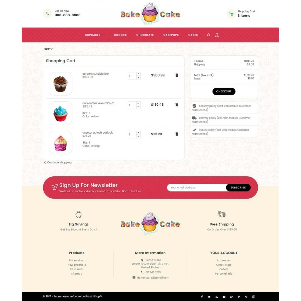 theme - Alimentos & Restaurantes - Cake Shop - 6