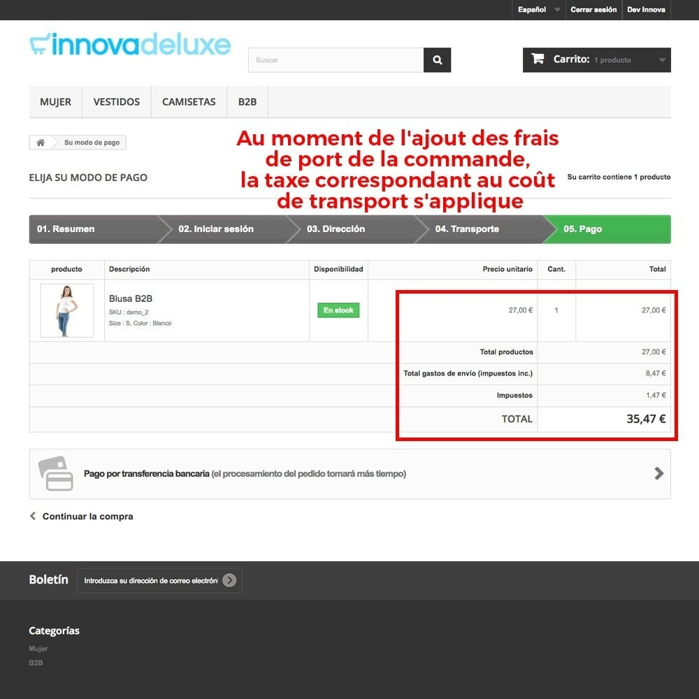 module - B2B - Suppression des taxes (clients/catégories) - 10