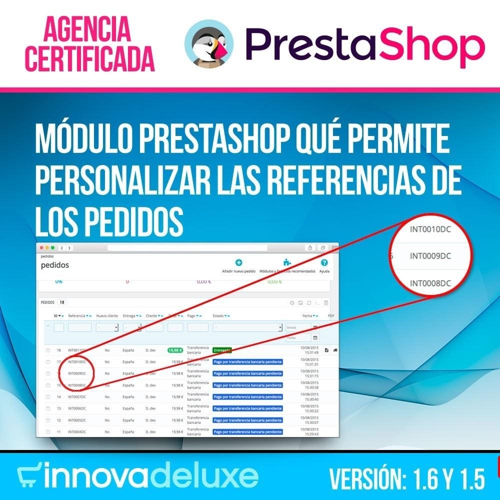 module - Contabilidad y Facturas - Personalización de la referencia de los pedidos - 1