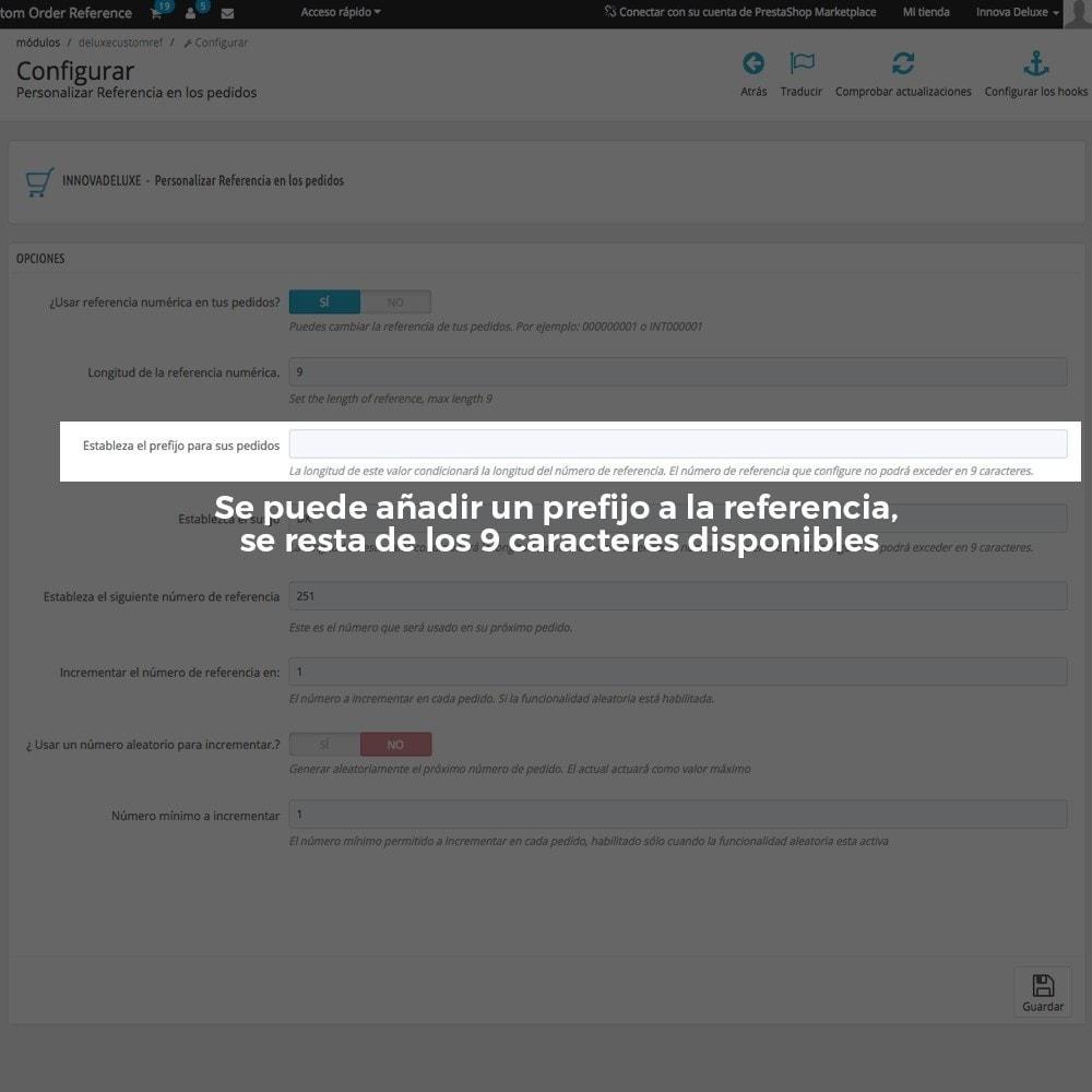 module - Contabilidad y Facturas - Personalización de la referencia de los pedidos - 5