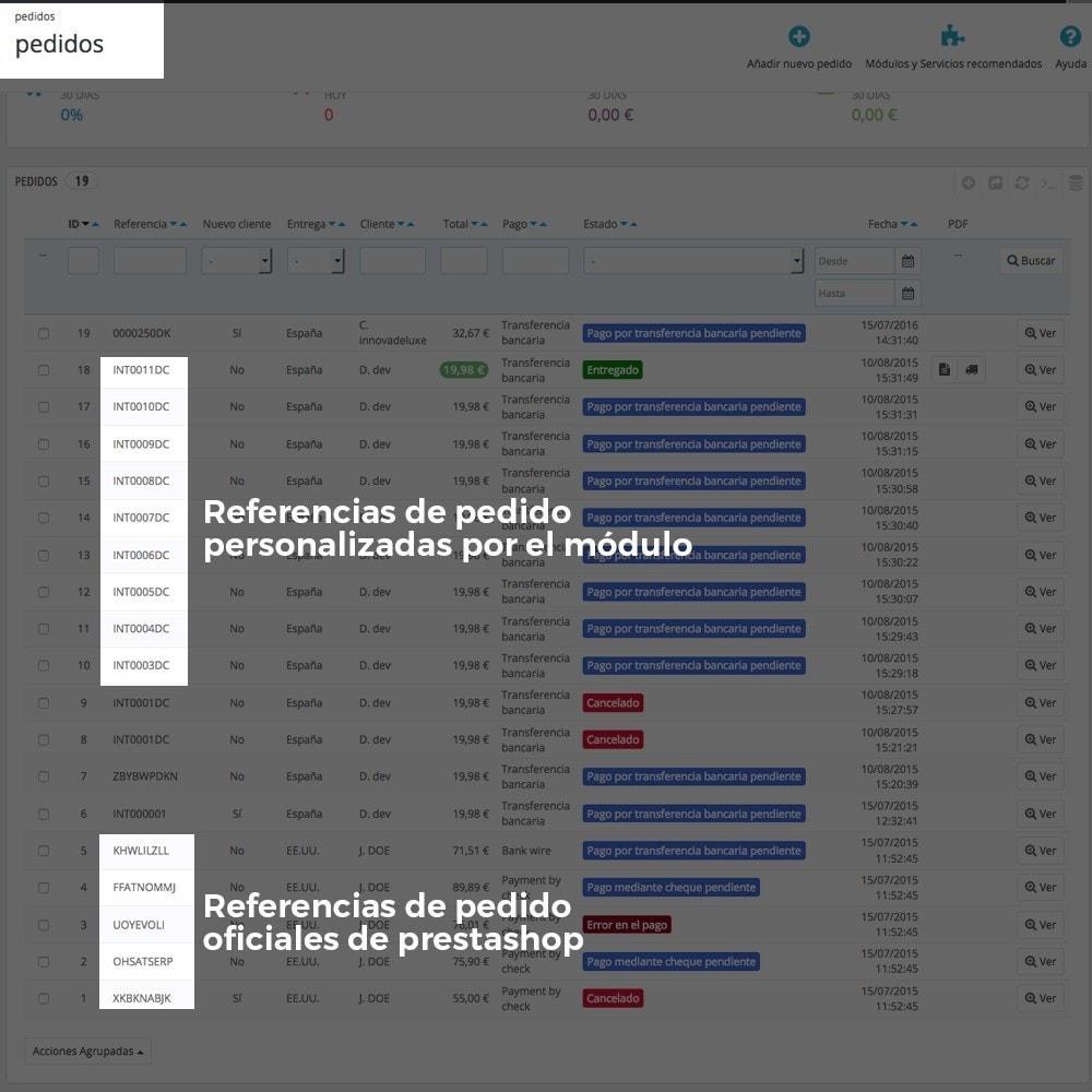 module - Contabilidad y Facturas - Personalización de la referencia de los pedidos - 11