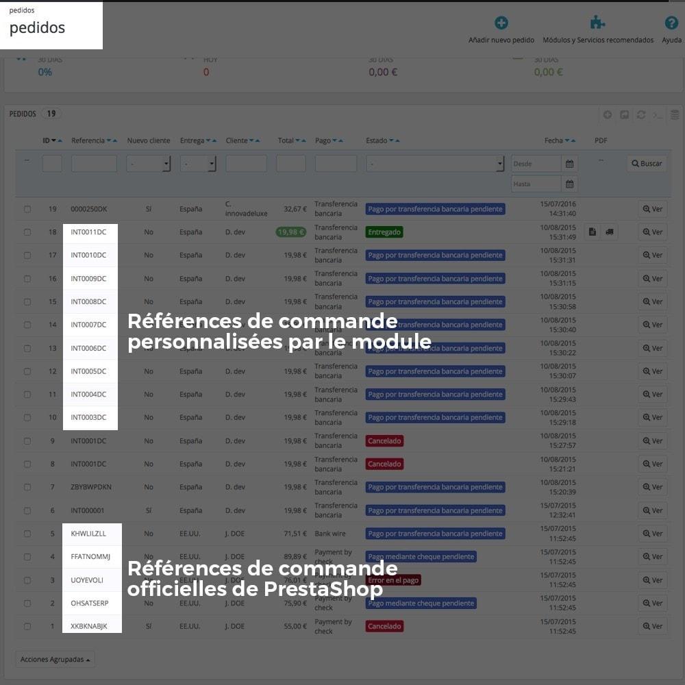 module - Comptabilité & Facturation - Personnalisation de la référence des commandes - 11