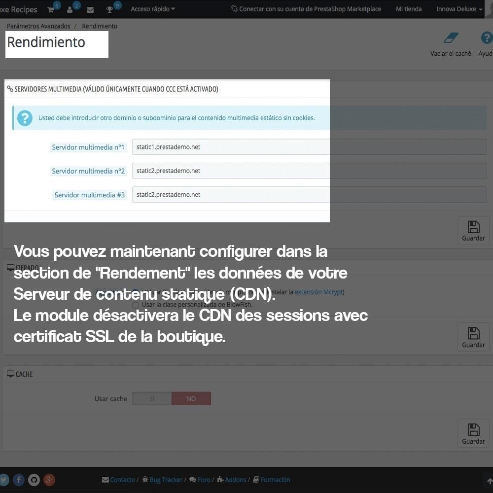 module - Sécurité & Accès - Désactivation de serveurs de médias CDN sur SSL - 4