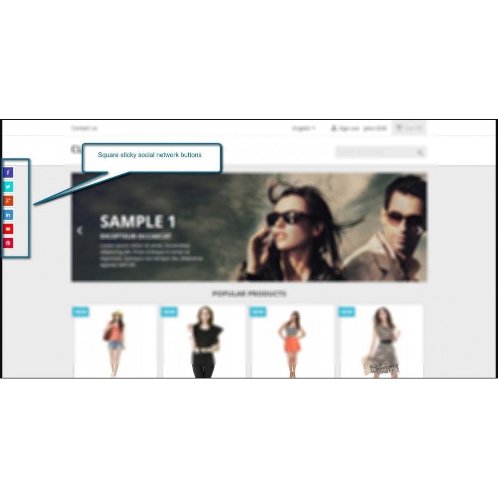 module - Compartir contenidos y Comentarios - Follow Us/Like Us - 3