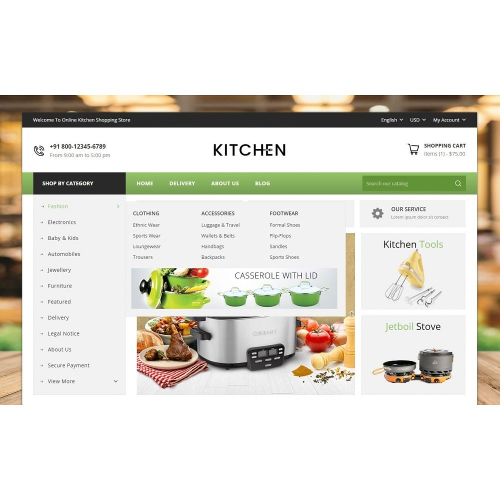 theme - Home & Garden - Online Kitchen Store - 6
