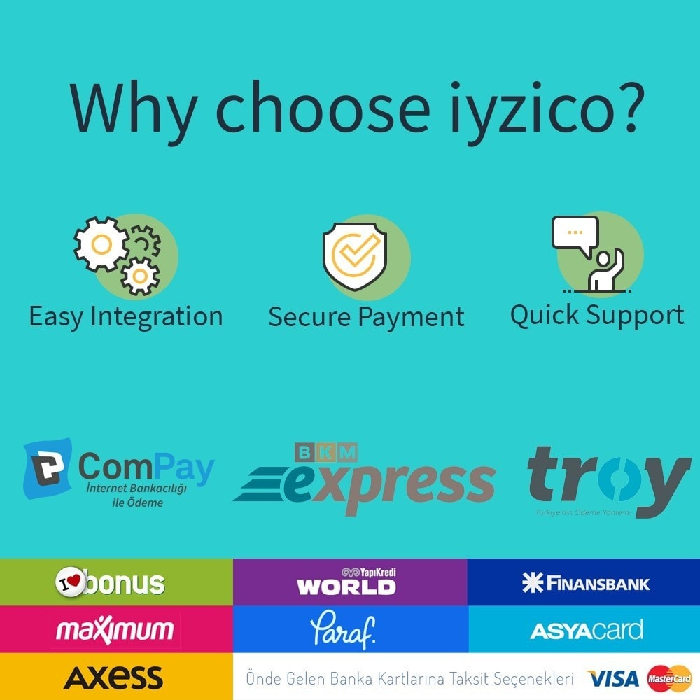 module - Payment by Card or Wallet - Iyzico Easy Payment Sanal POS for Turkey - 2