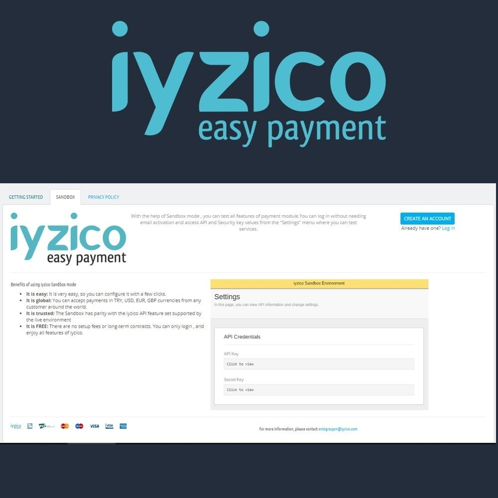 module - Creditcardbetaling of Walletbetaling - Iyzico Easy Payment - 4