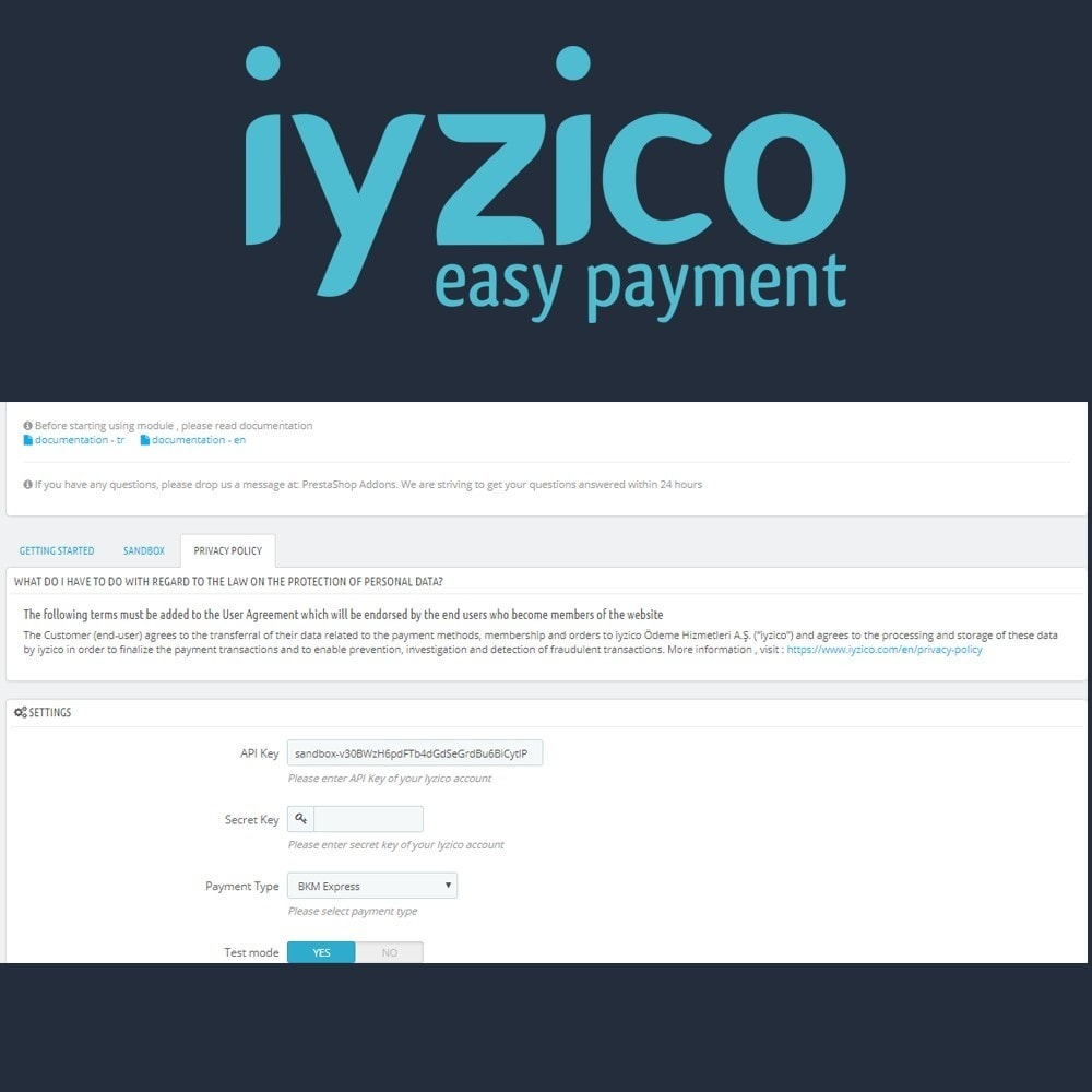 module - Payment by Card or Wallet - Iyzico Easy Payment Sanal POS for Turkey - 5