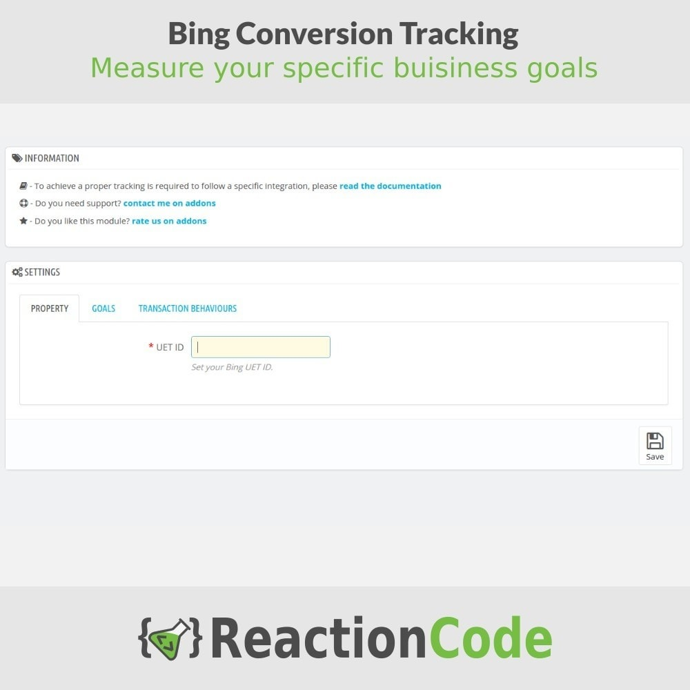 module - Статистика и анализ - Bing Conversion Tracking - 2