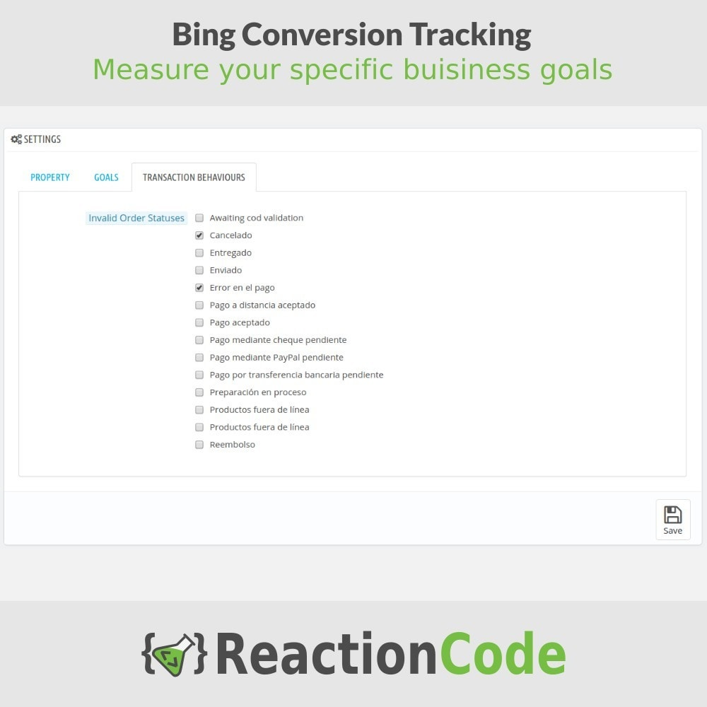 module - Informes y Estadísticas - Bing Conversion Tracking - 4