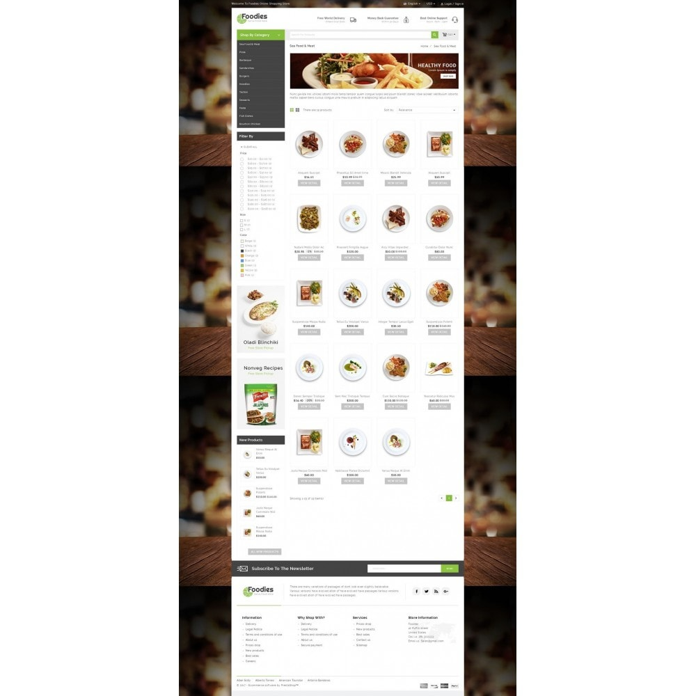 theme - Lebensmittel & Restaurants - Foodies - Restaurant Store - 3