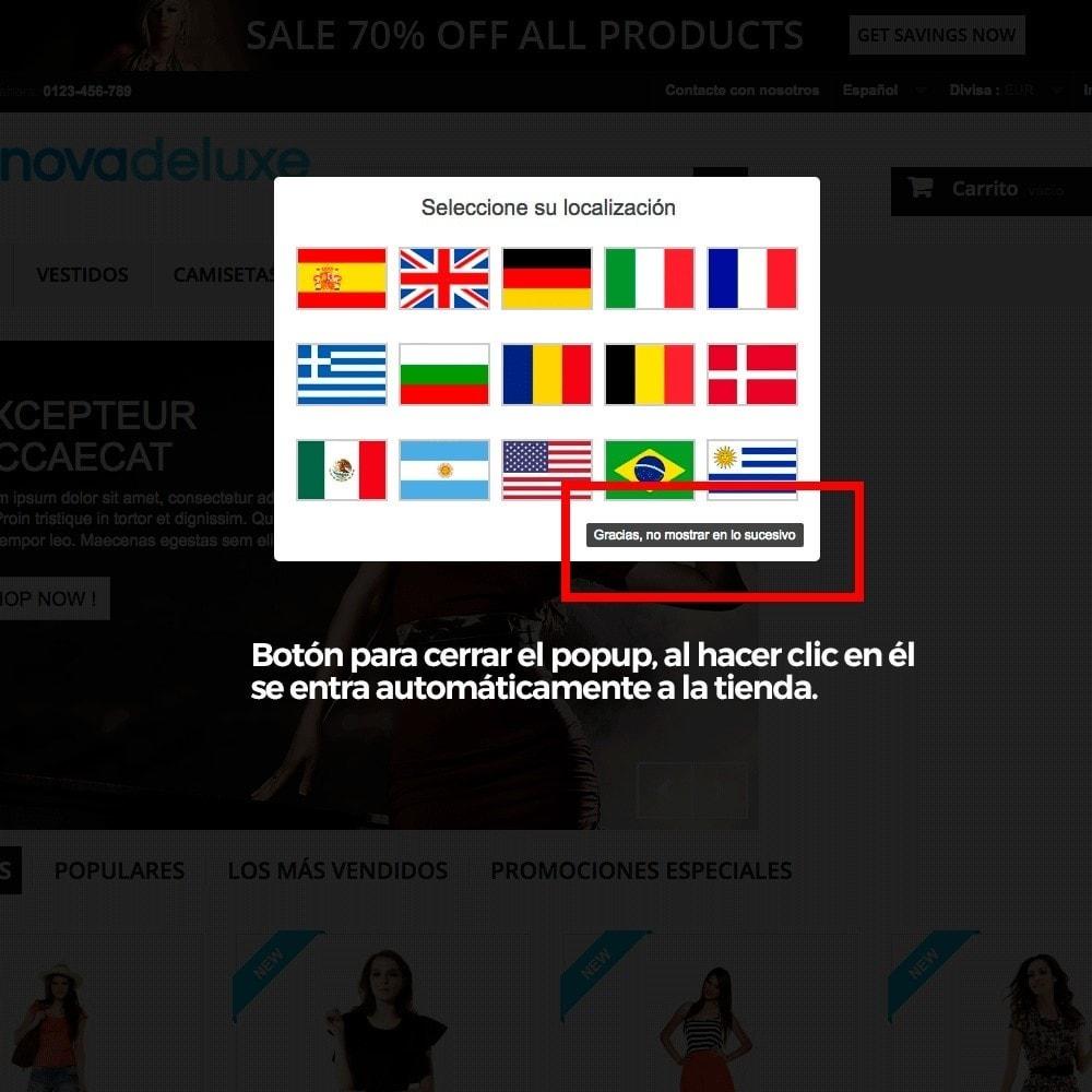 module - URL y Redirecciones - Popup con banderas para redireccionar a otros webs - 4