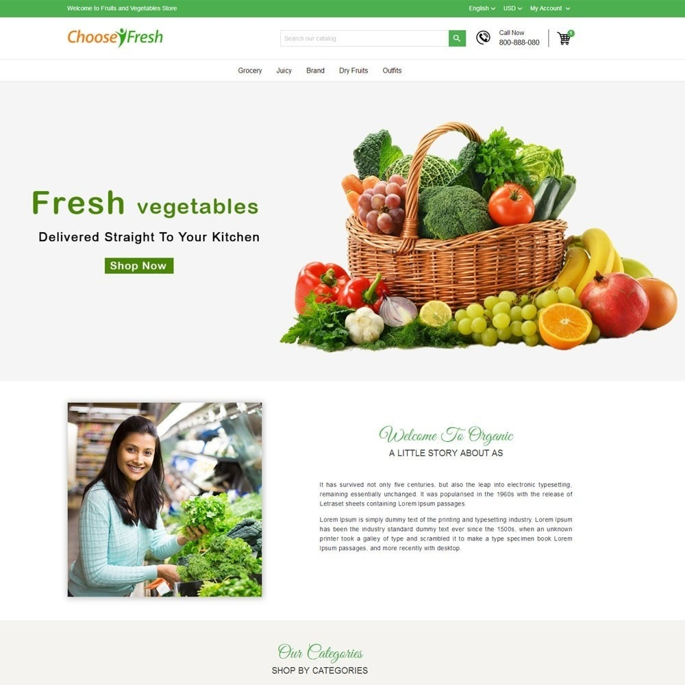 theme - Продовольствие и рестораны - Fresh Fruits And Vegetables Store - 2