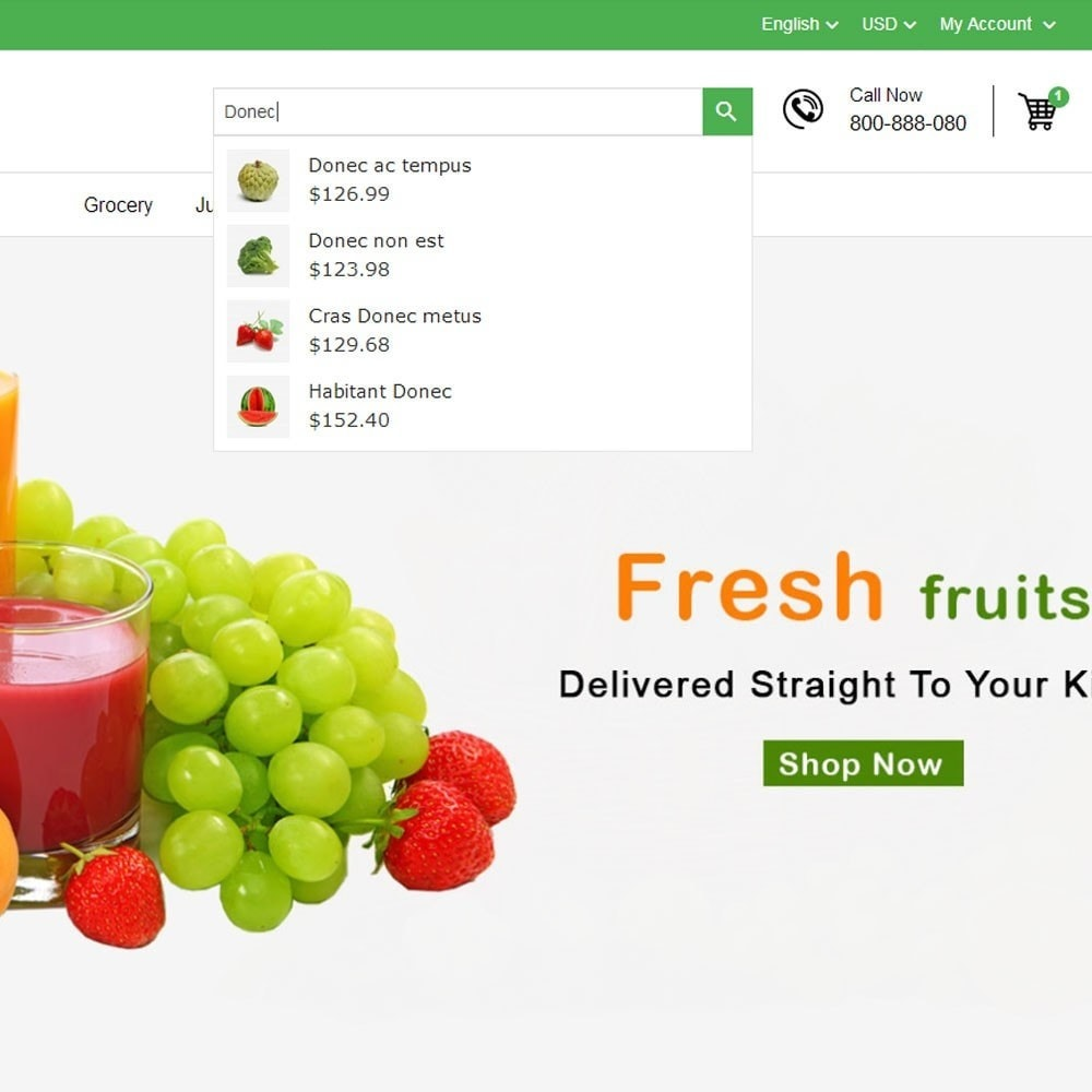 Fresh Fruits And Vegetables Store