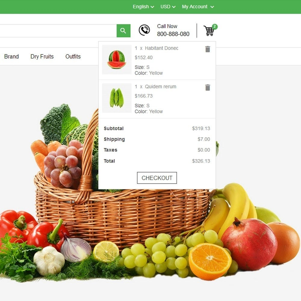theme - Продовольствие и рестораны - Fresh Fruits And Vegetables Store - 4