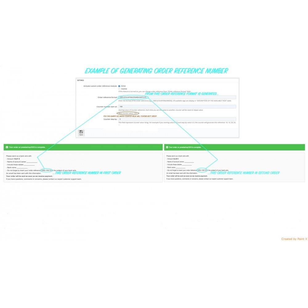 module - Gestione Ordini - Impostazioni avanzate di formato e numero dell'ordine - 4