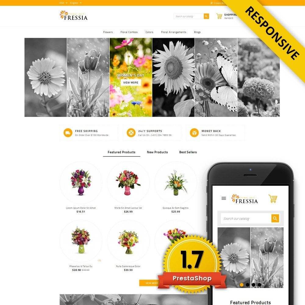 theme - Gifts, Flowers & Celebrations - Fressia - Flower Store - 1
