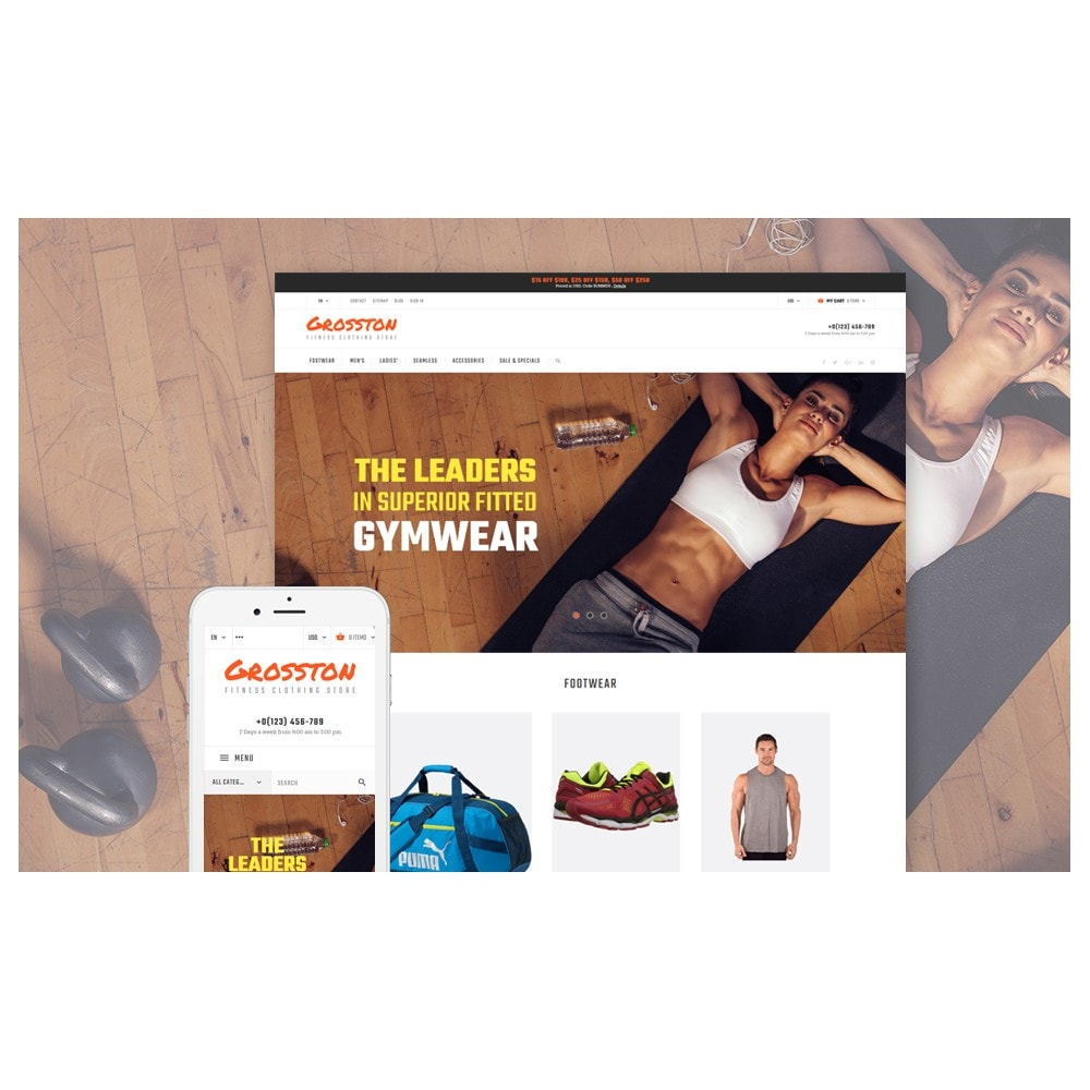 Crosston - Fitness Clothing Store