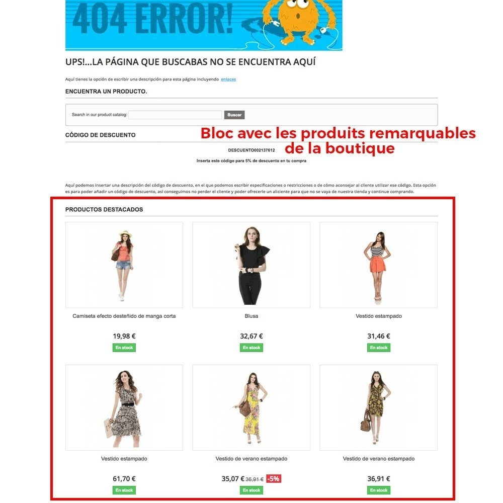 module - URL & Redirections - Personnalisation de la page d'erreur 404 - 6