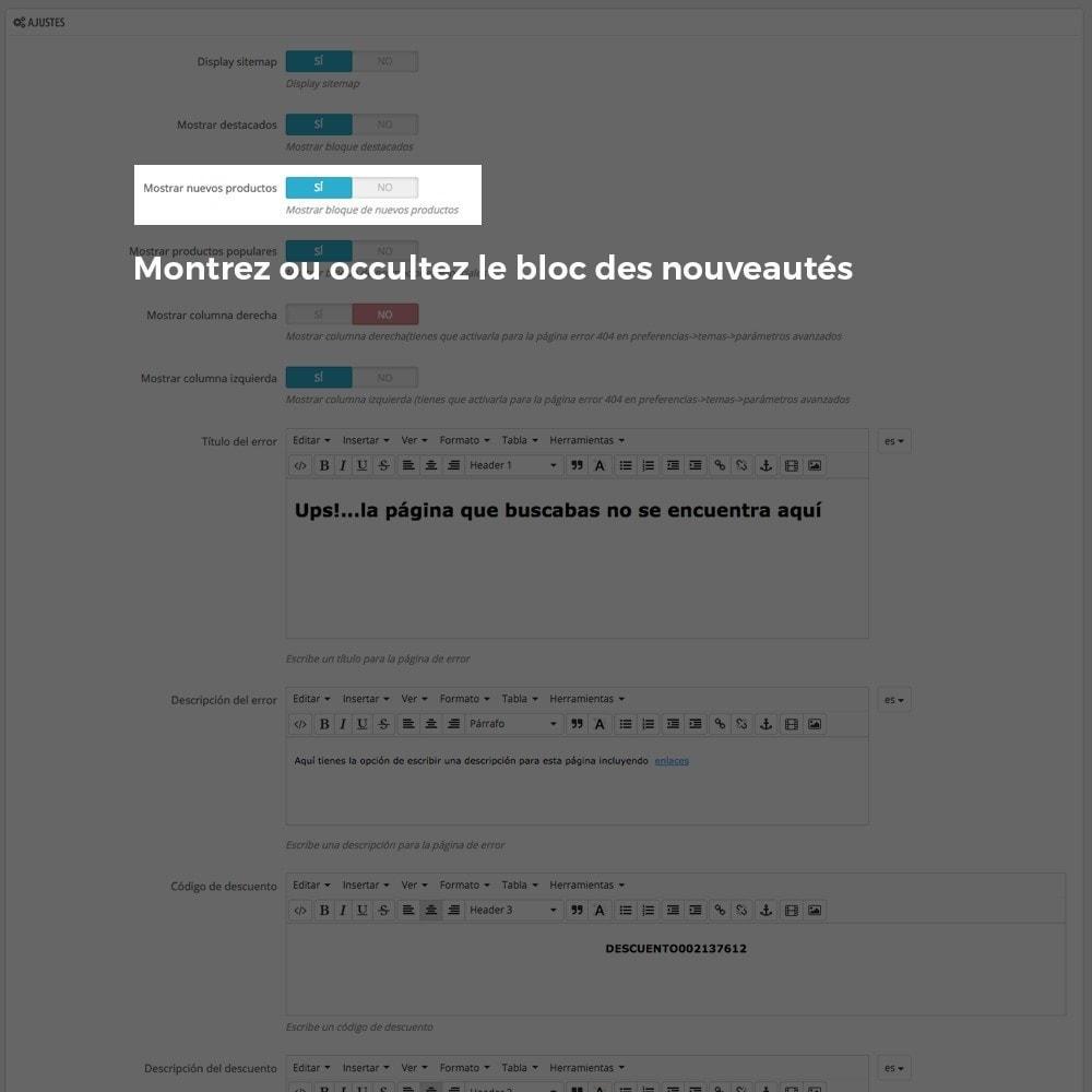 module - URL & Redirections - Personnalisation de la page d'erreur 404 - 7