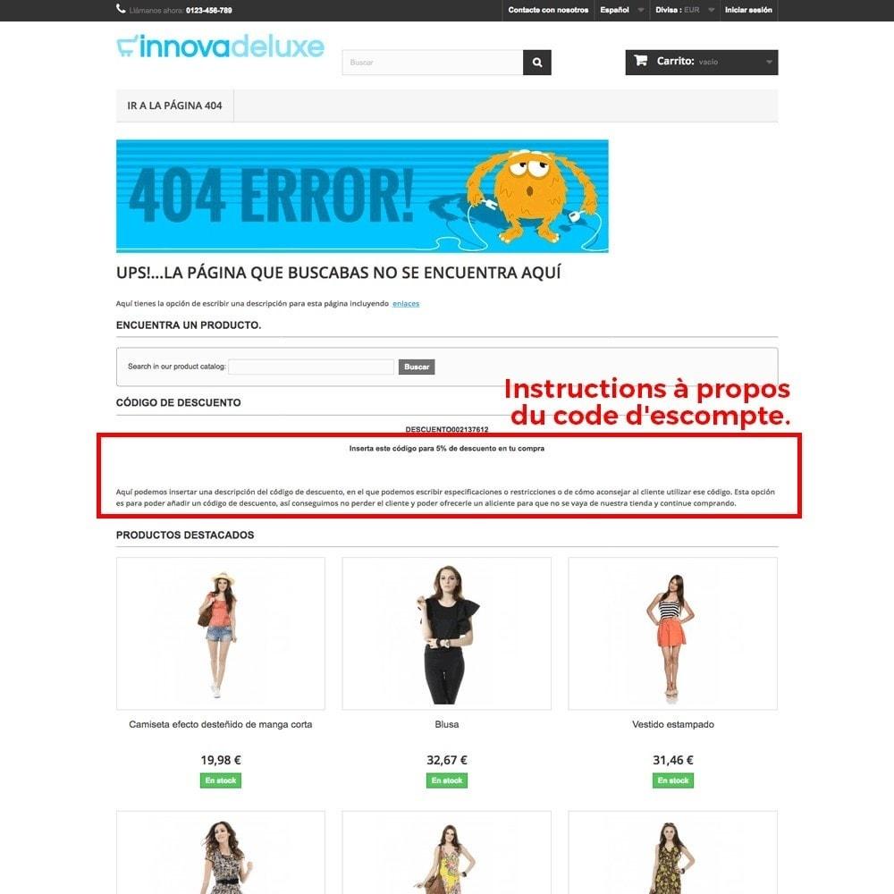 module - URL & Redirections - Personnalisation de la page d'erreur 404 - 23