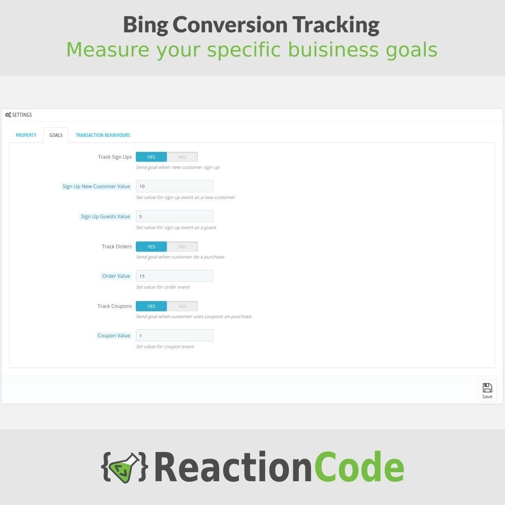 module - Analyses & Statistieken - Bing Conversion Tracking - 3