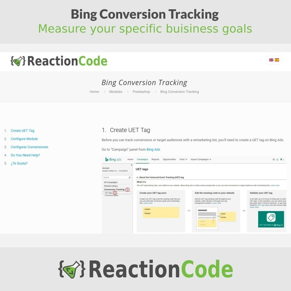 module - Analyses & Statistieken - Bing Conversion Tracking - 5